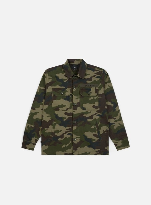 Camicie a Manica Lunga Obey Station Shirt Jacket