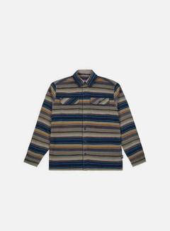 Patagonia - Fjord Flannel LS Shirt, Folk Dobby/Navy Blue