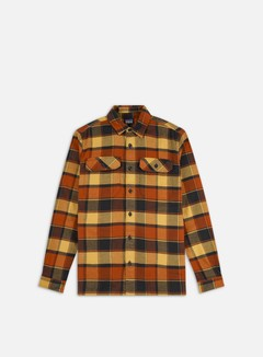 Patagonia - Fjord Flannel LS Shirt, Plots/Burnished Red