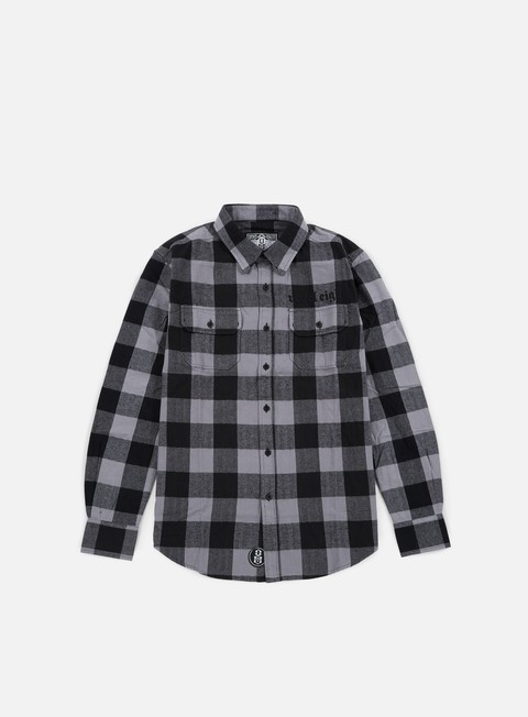 camicie rebel 8 bill flannel shirt grey