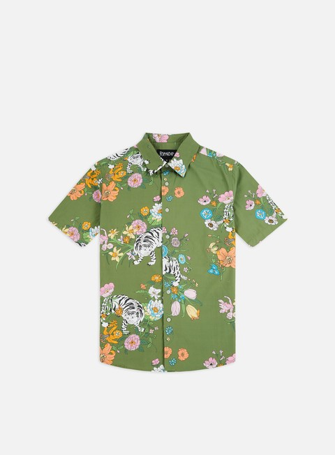 Camicie a Manica Corta Rip N Dip Blooming Nerm Button Up SS Shirt