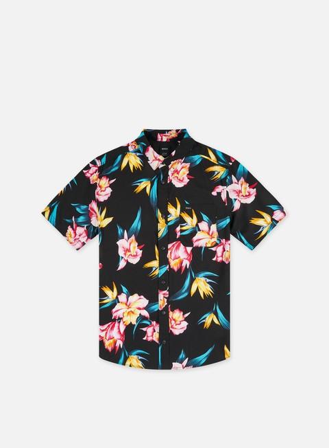 Short Sleeve Shirts Rvca Akora Floral SS Shirt