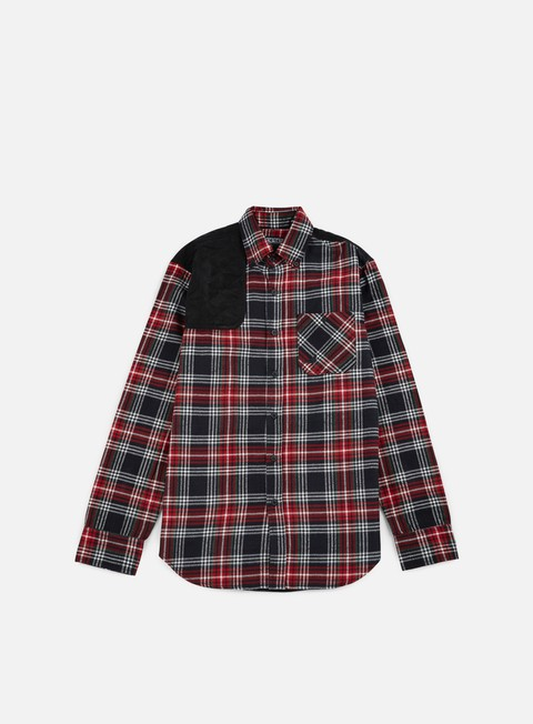 camicie staple shooter flannel shirt red