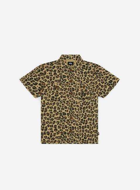 camicie stussy bdu ss shirt leopard