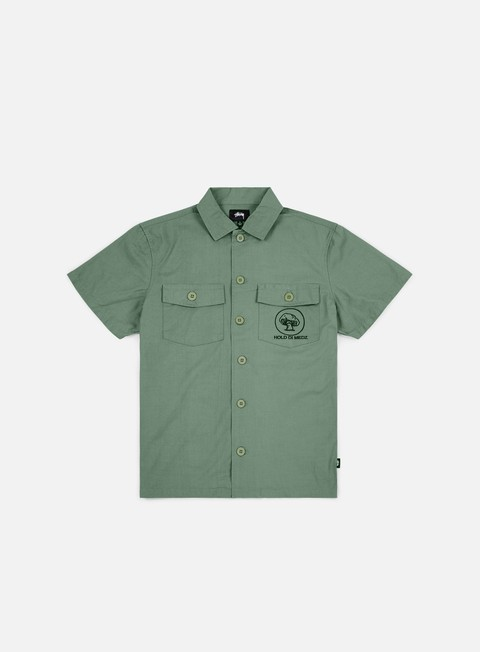 camicie stussy bdu ss shirt olive