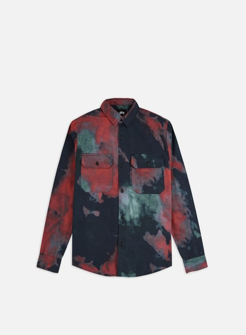 Long Sleeve Shirts Stussy Dark Dye Work Shirt