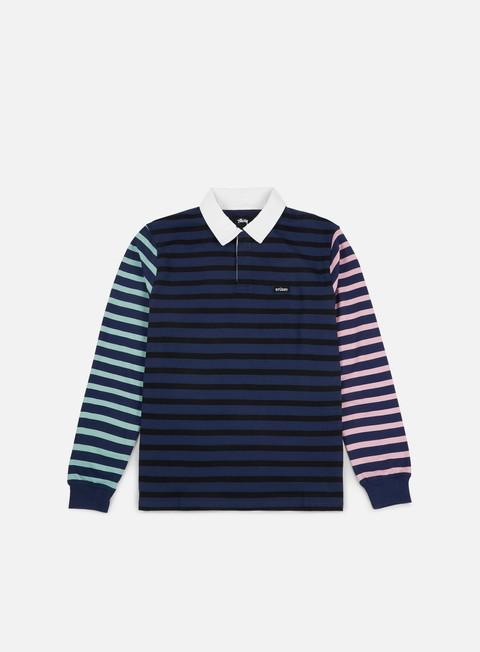 Polo Stussy Jonah Stripe LS Rugby Polo Shirt