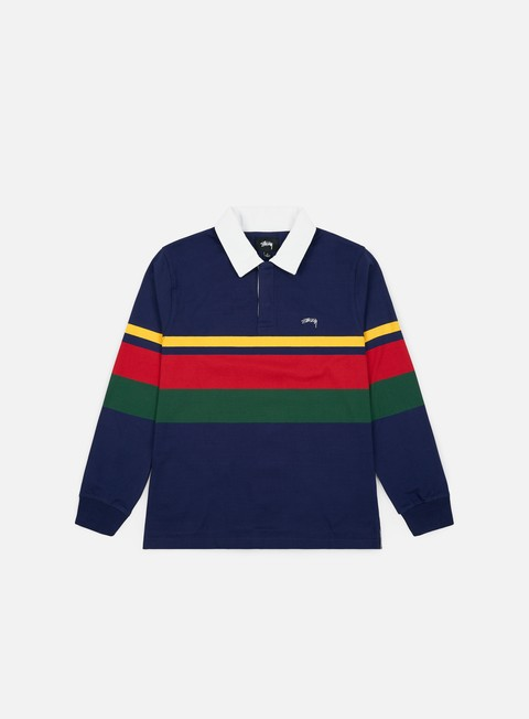 Stussy Lucas Stripe LS Rugby Polo Shirt