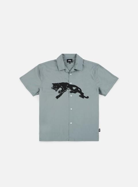 camicie stussy panter ss shirt grey