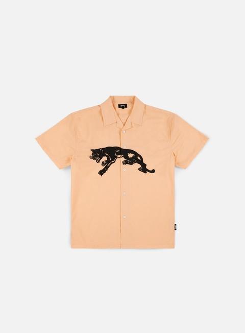 camicie stussy panter ss shirt peach