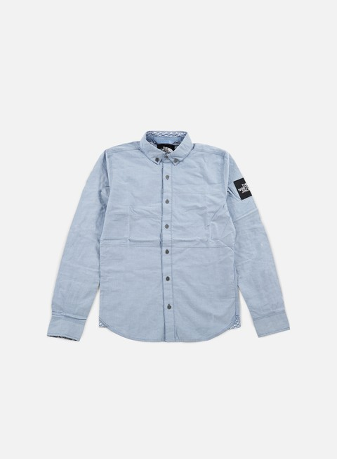 camicie the north face denali ls shirt moonlight blue