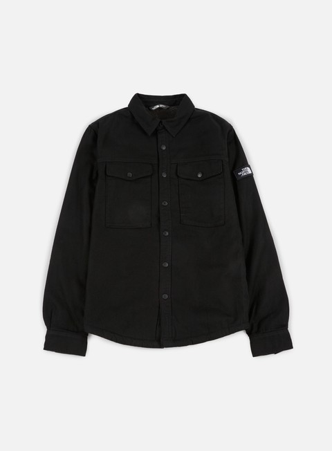 camicie the north face flannel sherpa shirt tnf black
