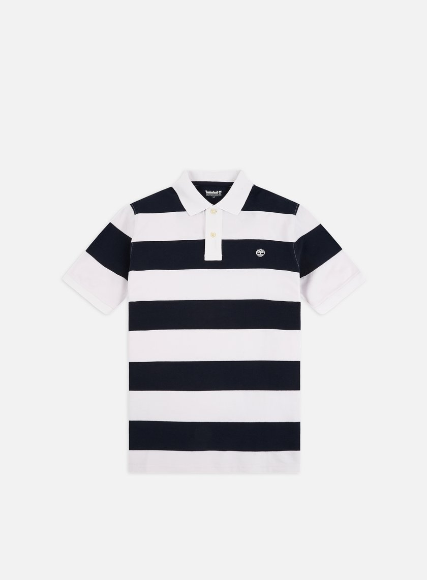 Timberland Pique Wide Stripe Rugby Polo
