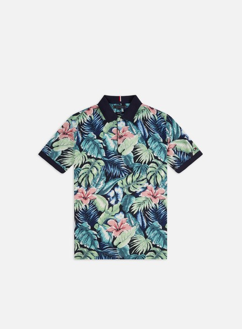 Tommy Hilfiger All Over Flower Print Polo Shirt