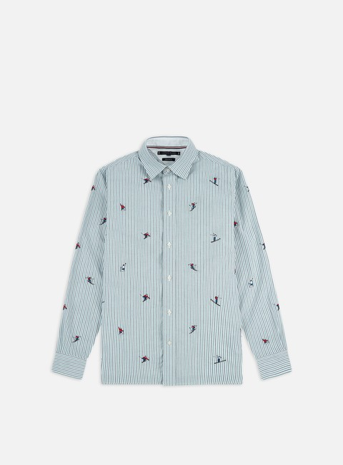 Long Sleeve Shirts Tommy Hilfiger Allover Embroidery Shirt