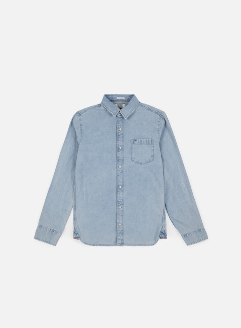 camicie tommy hilfiger classic denim shirt saunby light rigid