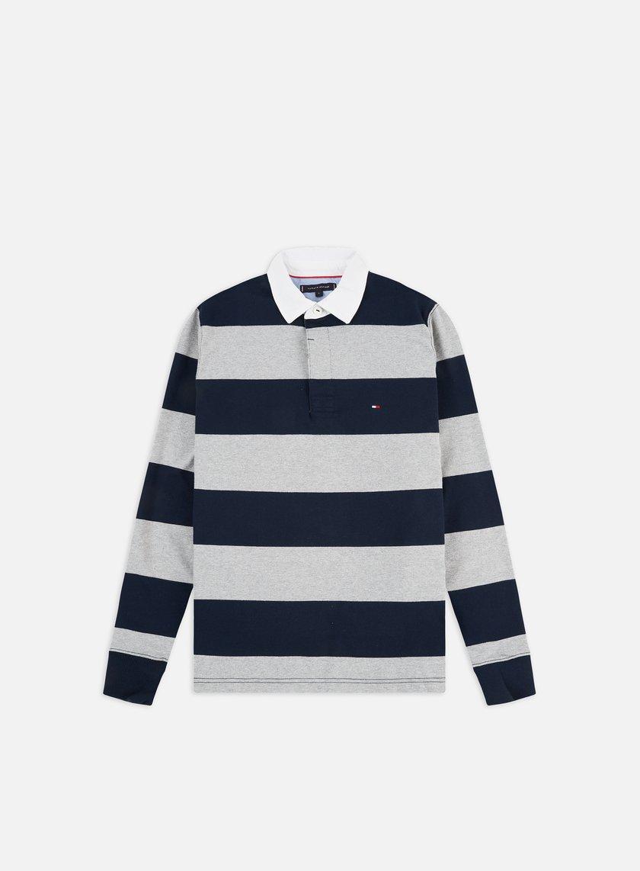 Tommy Hilfiger Iconic Block Stripe LS Polo Shirt