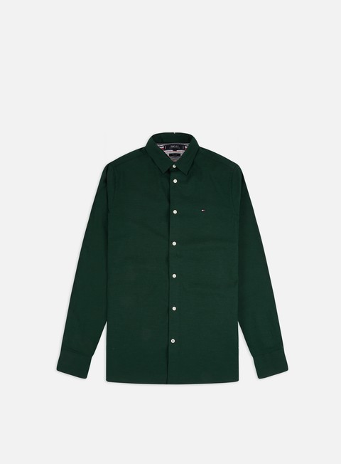 Camicie a Manica Lunga Tommy Hilfiger Slim Flex Herringbone LS Shirt