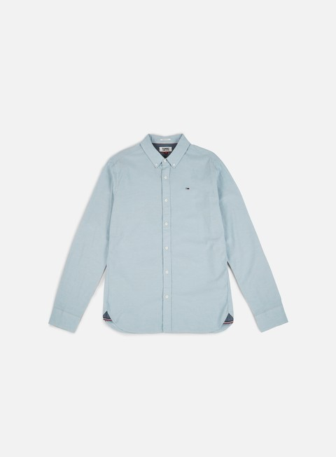 camicie tommy hilfiger tj basic reg chby ls shirt light indigo