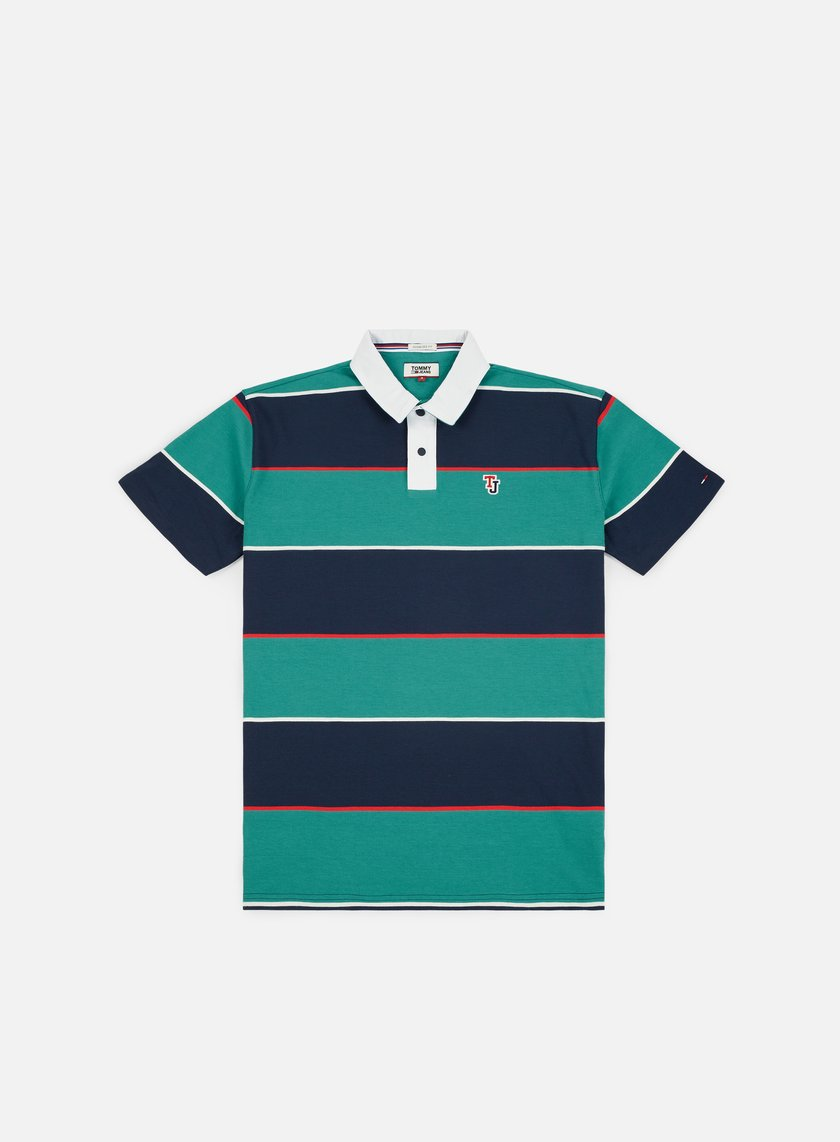 622ac371 TOMMY HILFIGER TJ Block Stripe Rugby Polo Shirt € 40 Polo | Graffitishop