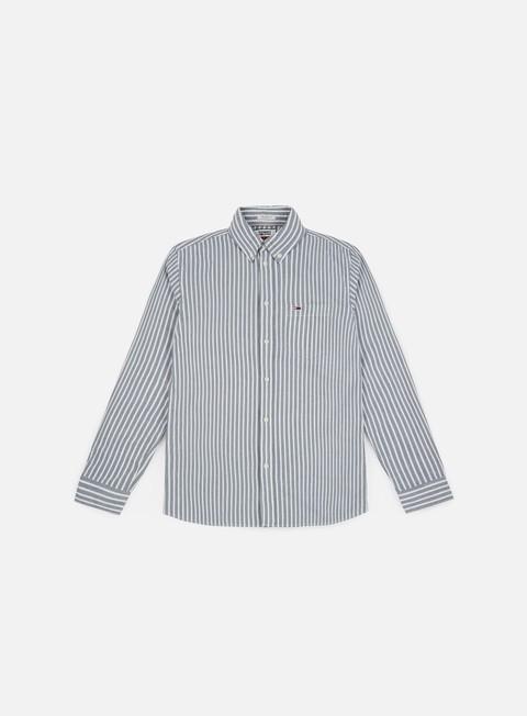 camicie tommy hilfiger tj classics stripe shirt black iris
