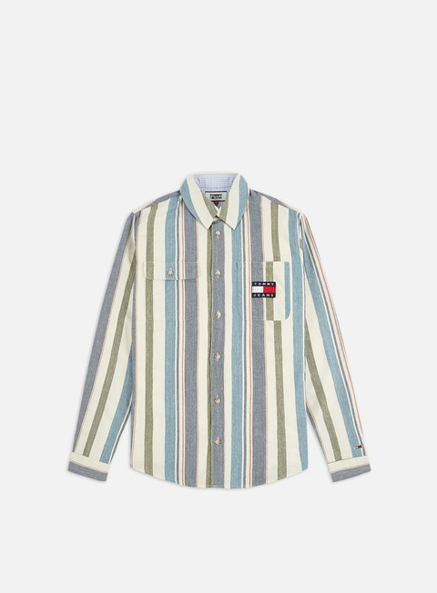 Outlet e Saldi Camicie a Manica Lunga Tommy Hilfiger TJ Cotton Multi Stripe Shirt