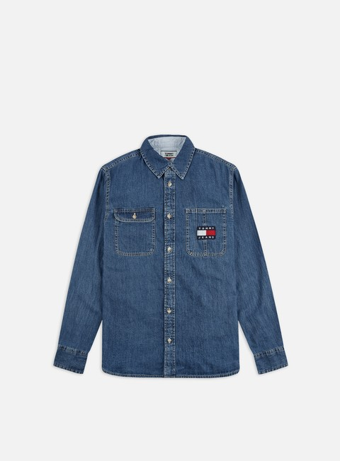 Outlet e Saldi Camicie a Manica Lunga Tommy Hilfiger TJ Denim Badge Shirt