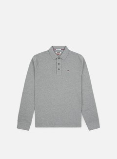 Tommy Hilfiger - TJ Essential LS Polo, Light Grey Heather