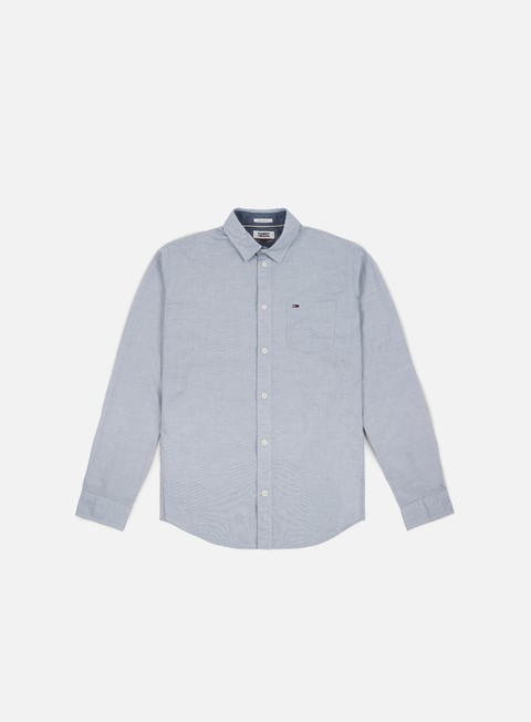 Sale Outlet Long Sleeve Shirts Tommy Hilfiger TJ Essential Solid LS Shirt