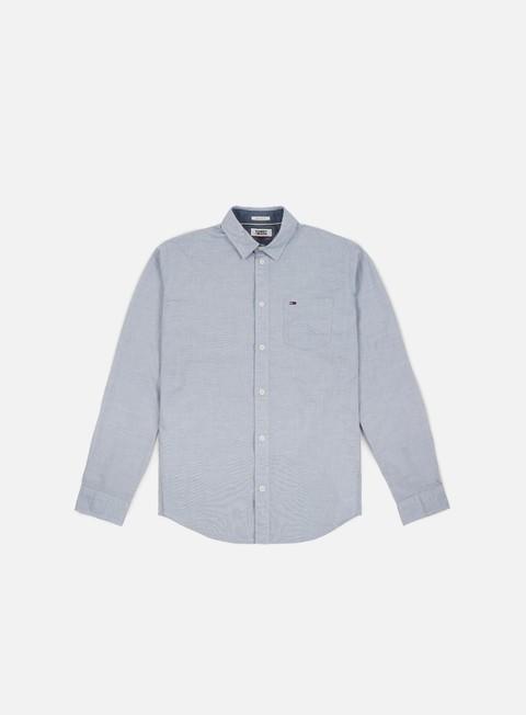 camicie tommy hilfiger tj essential solid ls shirt black iris