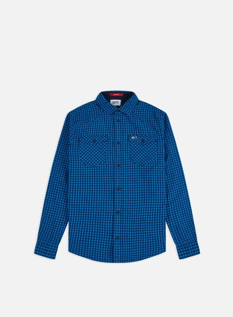 Sale Outlet Long Sleeve Shirts Tommy Hilfiger TJ Gingham Western LS Shirt