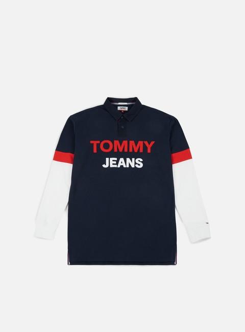camicie tommy hilfiger tj logo rugby shirt black iris multi