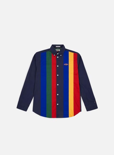 Outlet e Saldi Camicie a Manica Lunga Tommy Hilfiger TJ Retro Piece Stripe LS Shirt