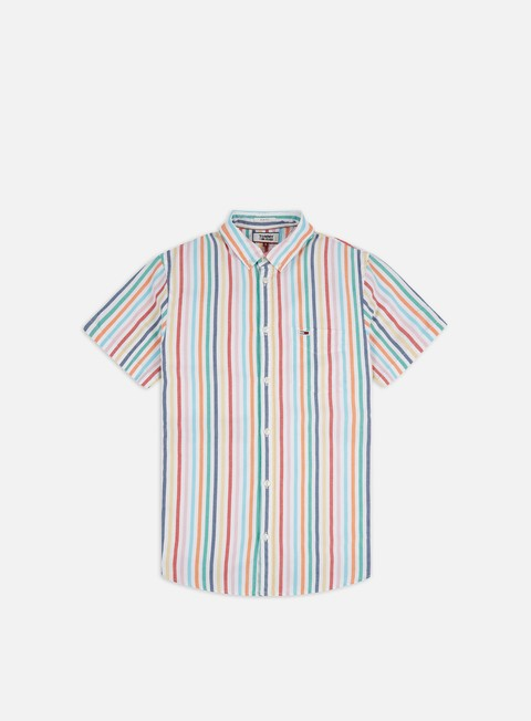Outlet e Saldi Camicie a Manica Corta Tommy Hilfiger TJ Shortsleeve Stripe Shirt