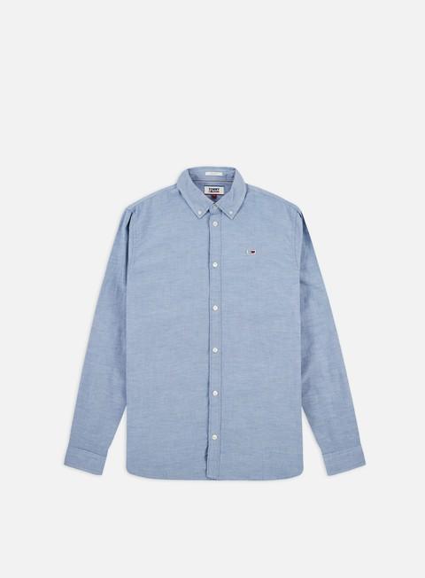 Outlet e Saldi Camicie a Manica Lunga Tommy Hilfiger TJ Strectch Oxford LS Shirt