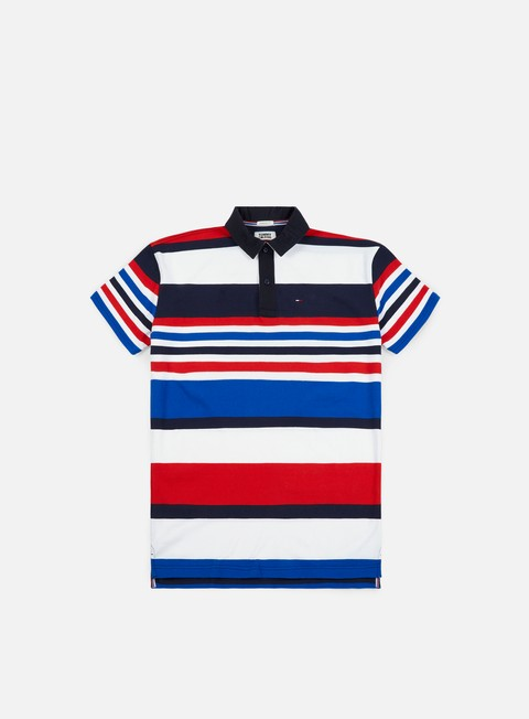camicie tommy hilfiger tj stripe sle polo short black iris multicolor