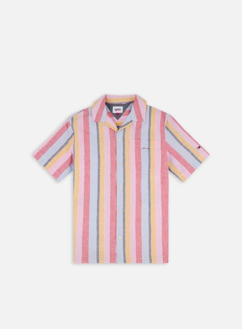 Camicie a Manica Corta Tommy Hilfiger TJ Striped Camp SS Shirt