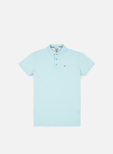 camicie tommy hilfiger tj summer oxford polo shirt air blue