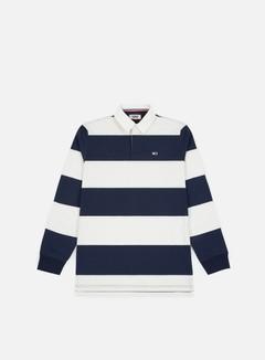 Tommy Hilfiger - TJ Tommy Classics Rugby Polo LS Shirt, Classic White/ Black Iris