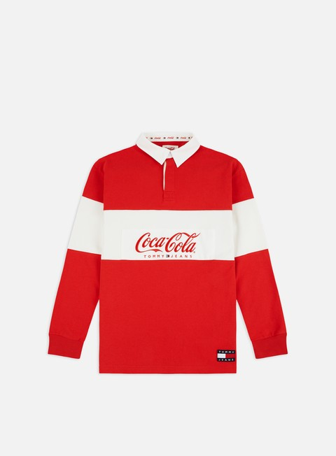 Outlet e Saldi Polo Tommy Hilfiger TJ Tommy x Coca Cola Rugby Polo LS Shirt