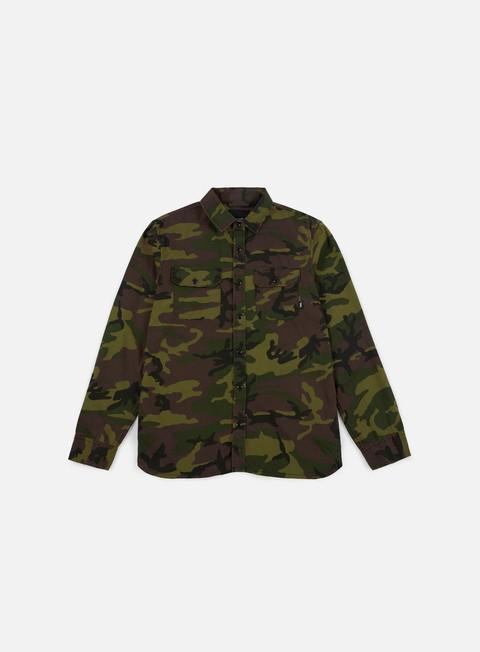 camicie vans arlington ls shirt camo lockup