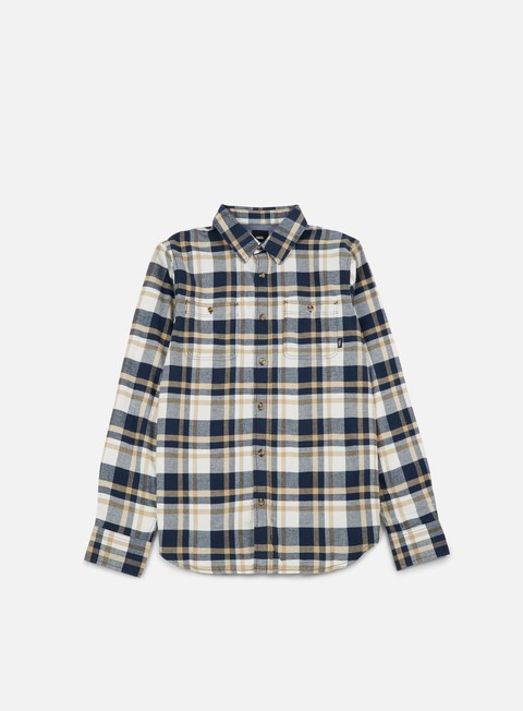 camicie vans banfield ii ls shirt dress blues marshmallow