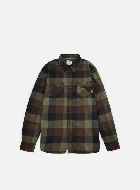 camicie vans box flannel shirt grape leaf demitasse