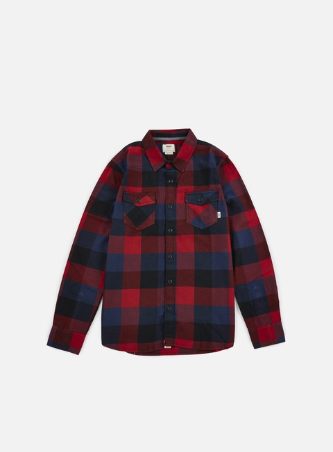 camicie vans box flannel shirt red dahlia black