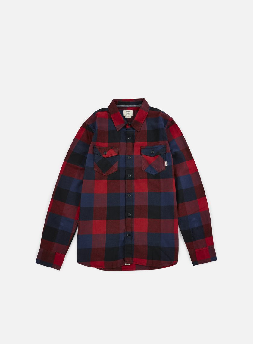 Vans - Box Flannel Shirt, Red Dahlia/Black