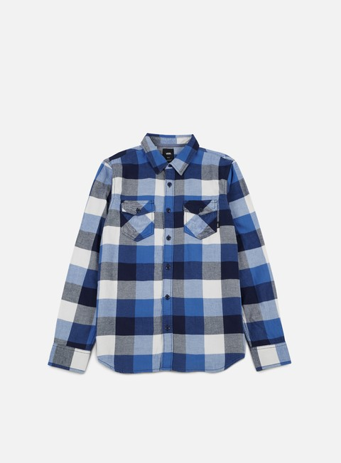 camicie vans box flannell ls shirt delft marshmallow