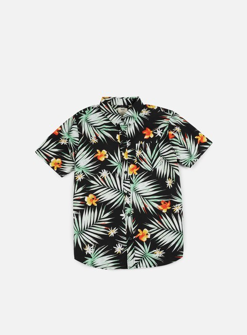 camicie vans daintree ss shirt black decay palm
