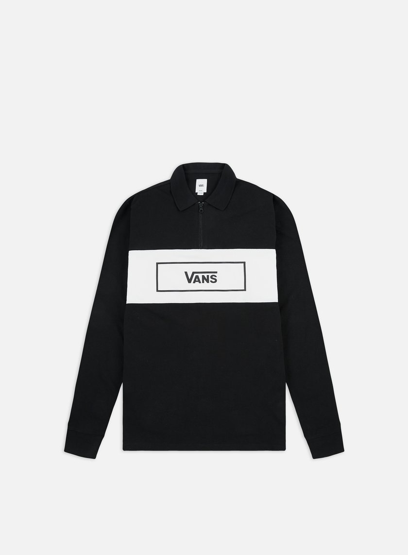 Vans Hewitt Quarter Zip LS Polo Shirt