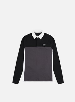 Vans - Hi-Point Colorblock Rugby Shirt, Black/Asphalt