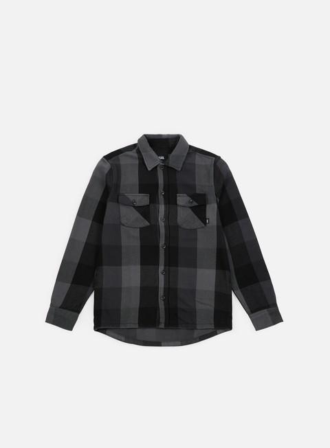 camicie vans hixon iv ls shirt black charcoal